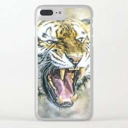 Snarling Tiger Clear iPhone Case
