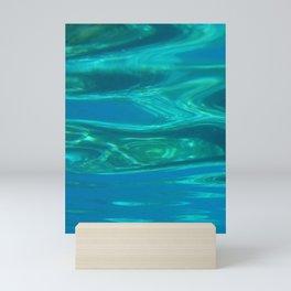 Below the surface - underwater picture - Water design Mini Art Print