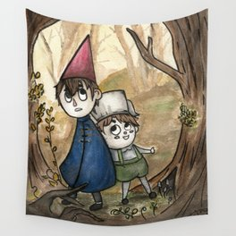 Over the Garden Wall Watercolor Painting Wall Tapestry