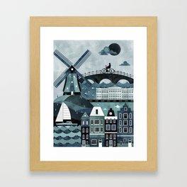 Amsterdam Travel Poster Framed Art Print