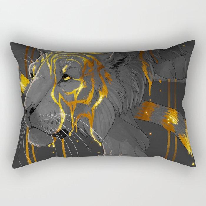 molten tiger Rectangular Pillow
