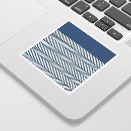 Herringbone Boarder Navy Sticker