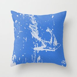 Fly Free (Blue) Throw Pillow