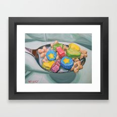 Marshmallow Cereal Framed Art Print