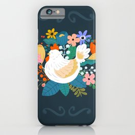 A Cheerful Chicken In A Sunny Garden iPhone Case