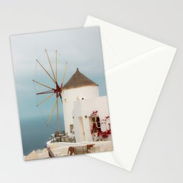 Oia Windmill Stationery Cards