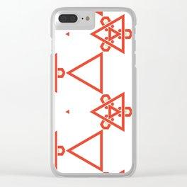 Modern minimalist Orange And White Geometric Pattern Clear iPhone Case