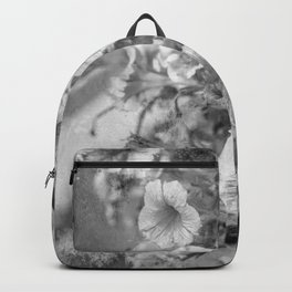 Morning Glories In Black And White Backpack