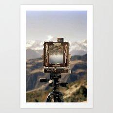 Camera Landscape Art Print