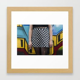 Skirt and cig Framed Art Print