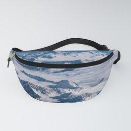 Aerial Glacier Four - Alaska Fanny Pack