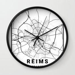 Reims Light City Map Wall Clock