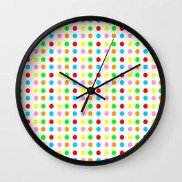 multicolor polka dot-polka dot,pattern,dot,polka,circle,disc,point,abstract,minimalism Wall Clock