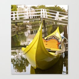 VENICE CANALS - WATER TAXI Canvas Print
