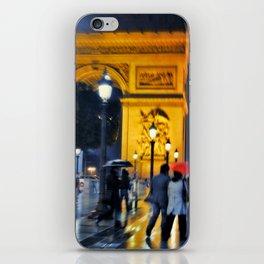 Paris in the Rain iPhone Skin