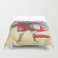 soccer Duvet Covers featuring Color Soccer by Fernando Macedo