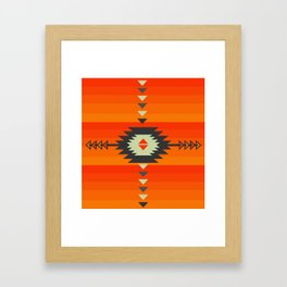 Southwestern in orange and red Framed Art Print