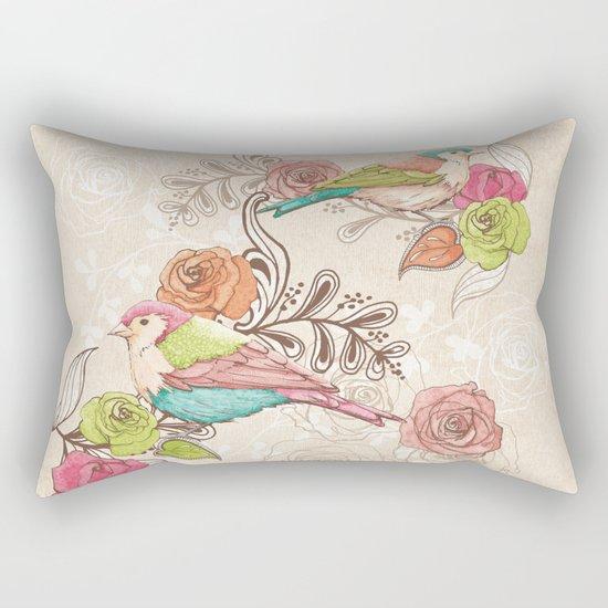Country Garden Rectangular Pillow