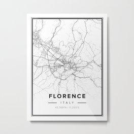 Florence Modern Map Metal Print