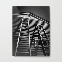 The Apprentice Climbing the Ladder Metal Print