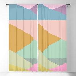 Pastel Abstract Geometric Design Blackout Curtain