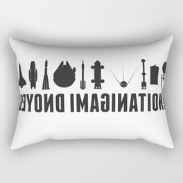 Beyond imagination: Space Shuttle postage stamp Rectangular Pillow