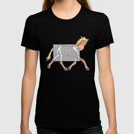 Horse Xray Cartoon T-shirt