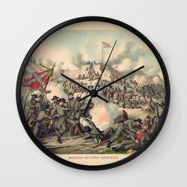 Civil War Assault on Fort Sanders Nov. 29 1863 Wall Clock