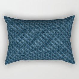 Diamond 3D Regent Blue Rectangular Pillow
