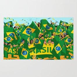 Brazil Soccer Fans Rug
