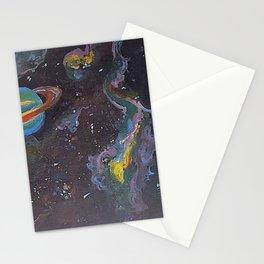 Blue Saturn Stationery Cards