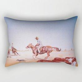 Rousting the Cattle, AUSTRALIA         by Kay Lipton Rectangular Pillow