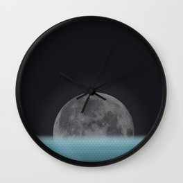 Lonely Moon Wall Clock