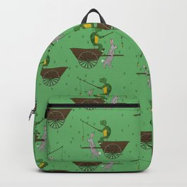 carrot on a stick (tortoise and the hare) Backpack