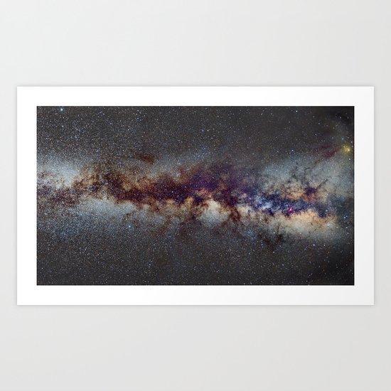 The Milky Way: from Scorpio, Antares and Sagitarius to Scutum and Cygnus Art Print