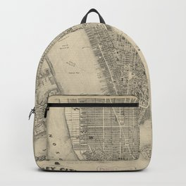Vintage Map of NYC and Brooklyn (1855) Backpack