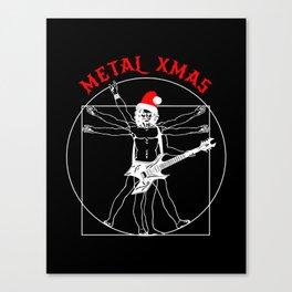 Metal Xmas Vitruvian man with B. C. Warlock Canvas Print