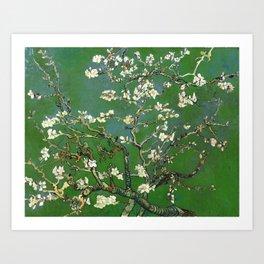 Almond Blossom - Vincent Van Gogh (avocado pastel) Art Print