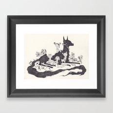 Le Loup et les Sept Chevreaux Framed Art Print