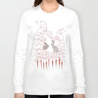 rabbits Long Sleeve T-shirts featuring Rabbits by Fay's Studio