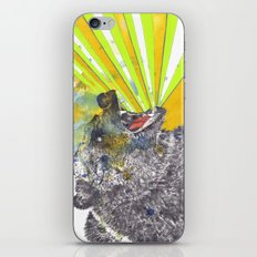 Roaring Bear Animal Watercolor Painting iPhone & iPod Skin