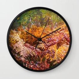 Autumn fern Wall Clock