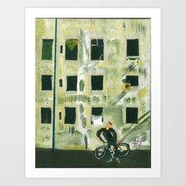 Edifice à la fenêtre Art Print