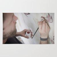 danny haas Area & Throw Rugs featuring Danny Doom, Meerane 2011 by Jan Brennenstuhl