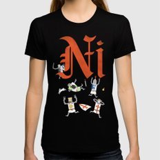 Ni! LARGE Womens Fitted Tee Black