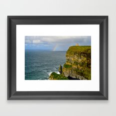 Cliffs of Moher Rainbow Framed Art Print
