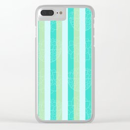 Budding Stems Pattern Clear iPhone Case