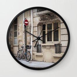 Parked at Ile Saint-Louis Wall Clock