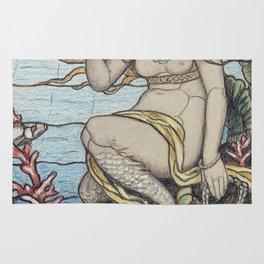 Elihu Vedder - The Mermaid Window Rug