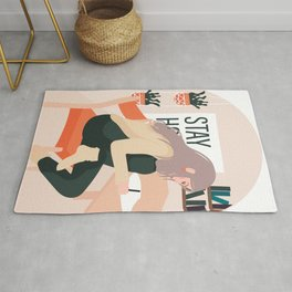 Stay Home and Create Rug
